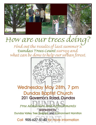 Poster for Dunas Trees Count Presentation, May 2008